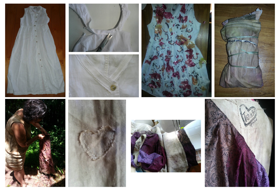 upcycling a linen dress