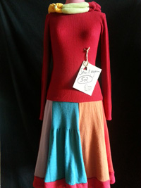 history skirt from wool jumpers