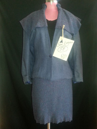 upcycled linen wool suit