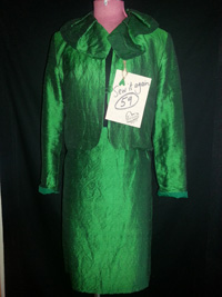 upcycled silk suit