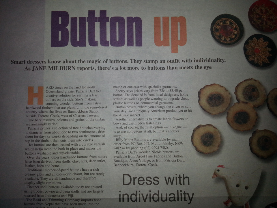 Sunday Mail story on buttons