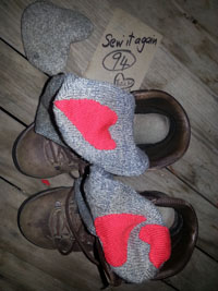 Repair wool socks